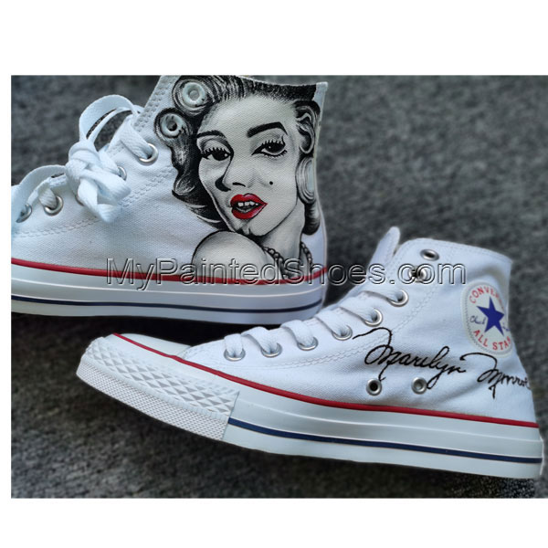 Marilyn Monroe Shoes Custom High Tops Hand Painted Shoes-1