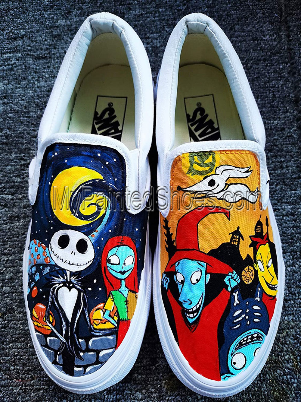 The Nightmare Before Christmas Shoes Custom Hand Painted Shoes-1