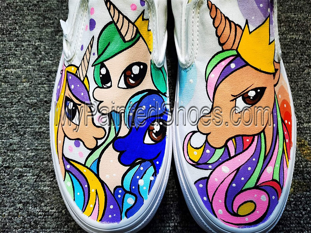 My Little Pony Sneakers Hand Painted Shoes Rainbow Dash Shoes-3