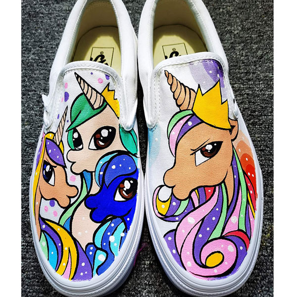My Little Pony Sneakers Hand Painted Shoes Rainbow Dash Shoes