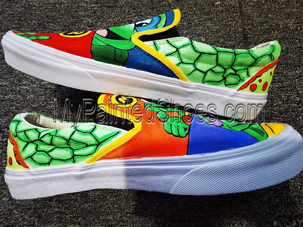 Ninja Turtles Shoes for Men Women Hand Painted Shoes-3