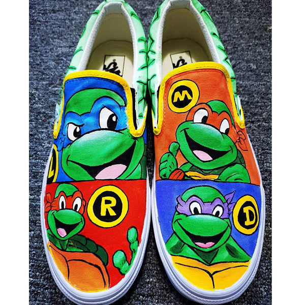 Ninja Turtles Shoes for Men Women Hand Painted Shoes
