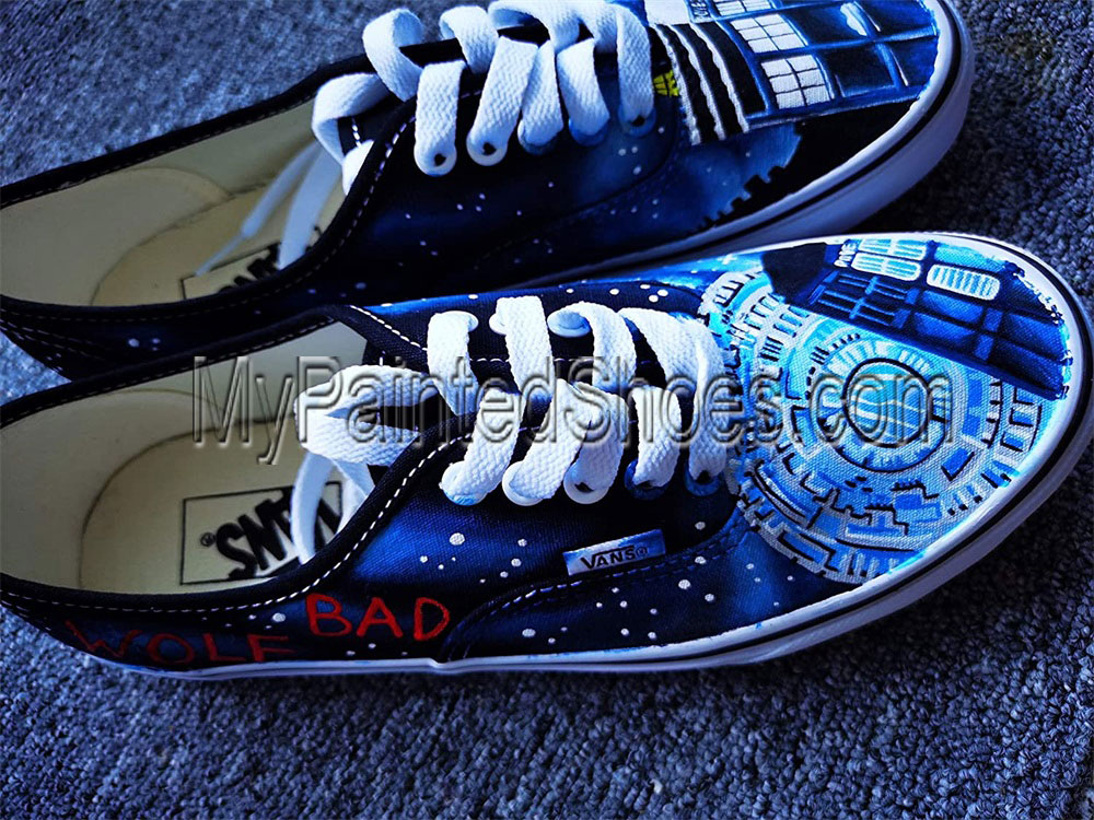 DR Who Shoes Doctors Who Shoes for Women Men Hand Painted Shoes-1
