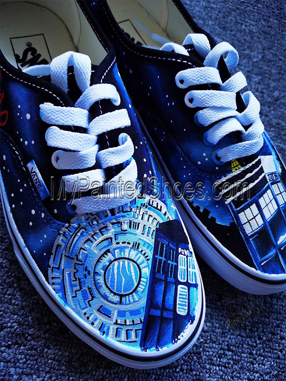 DR Who Shoes Doctors Who Shoes for Women Men Hand Painted Shoes-2