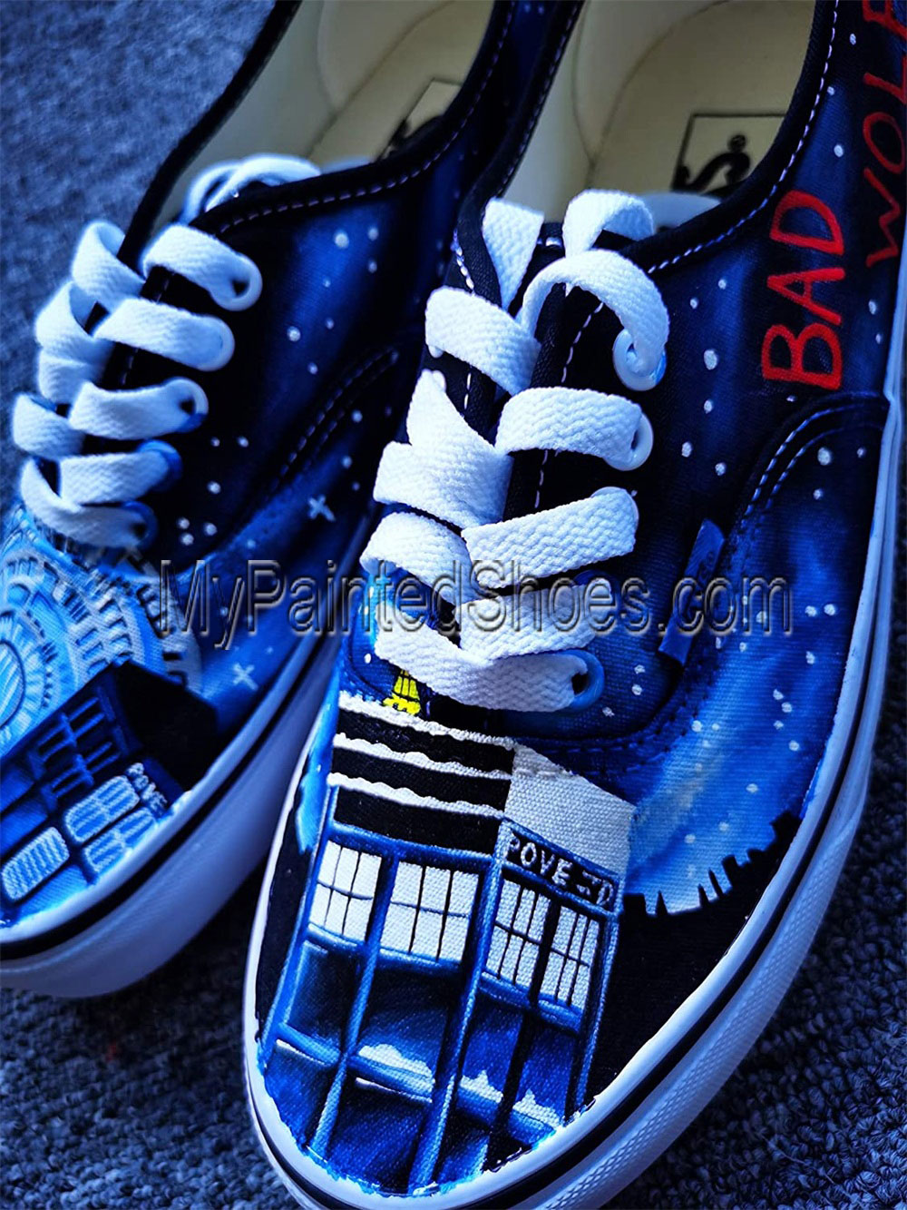 DR Who Shoes Doctors Who Shoes for Women Men Hand Painted Shoes-3
