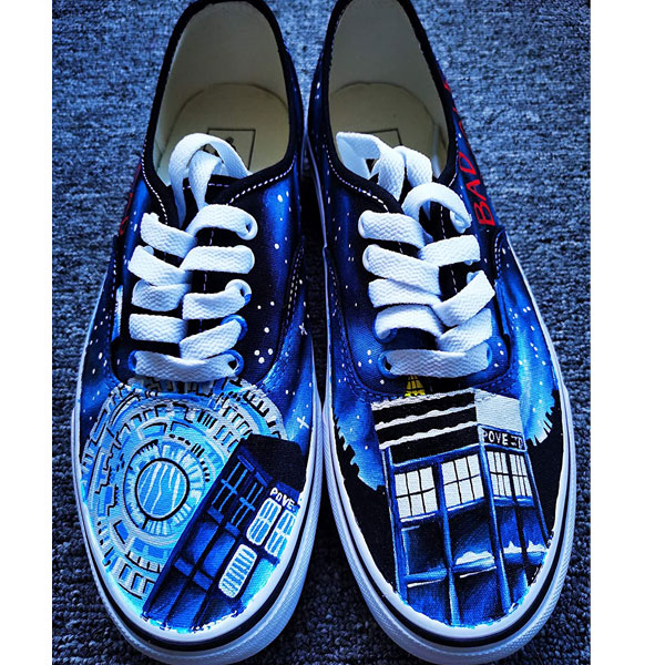 DR Who Shoes Doctors Who Shoes for Women Men Hand Painted Shoes