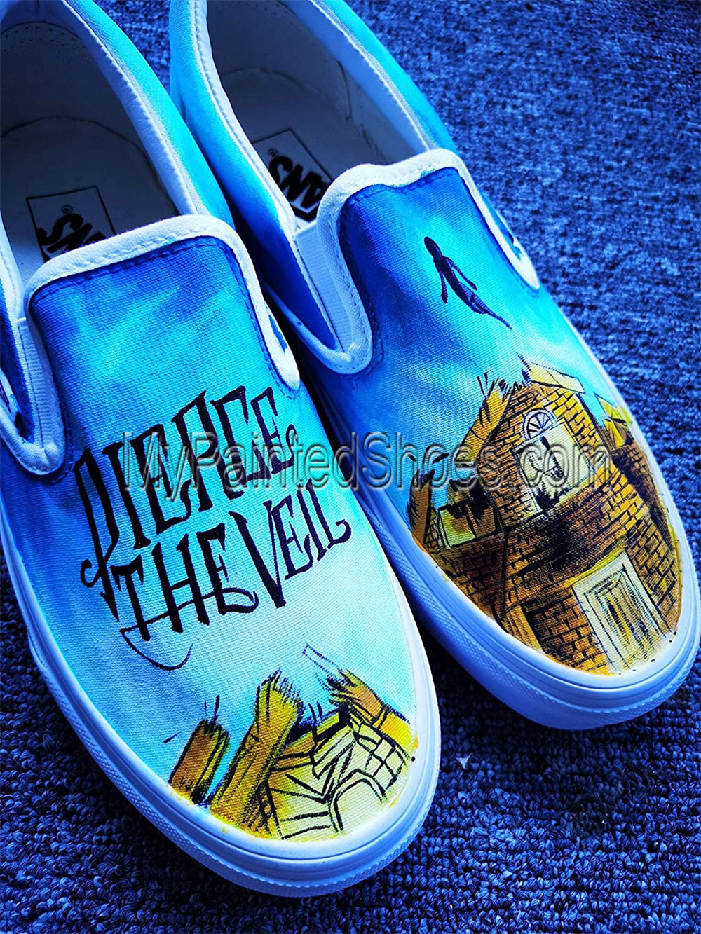 Pierce the Veil Shoes Collide With The Sky Hand Painted Shoes-1