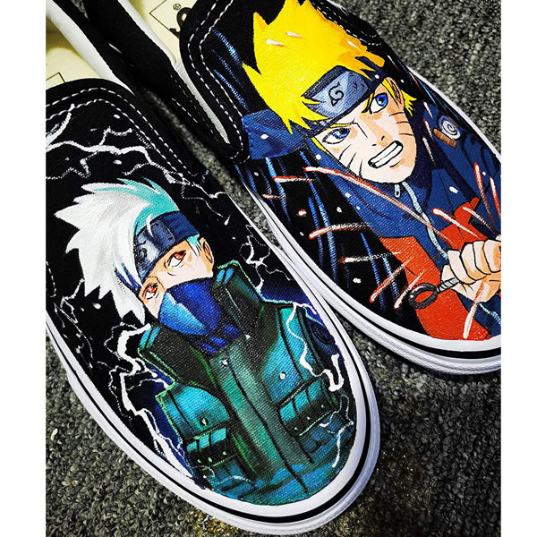 Naruto Kakashi Hatake Hand Painted Shoes Canvas Painted Shoes Me