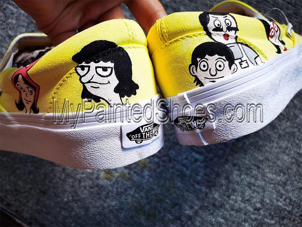 Bob's Burgers Custom Shoes Men Women Hand Painted Shoes Canvas S-2