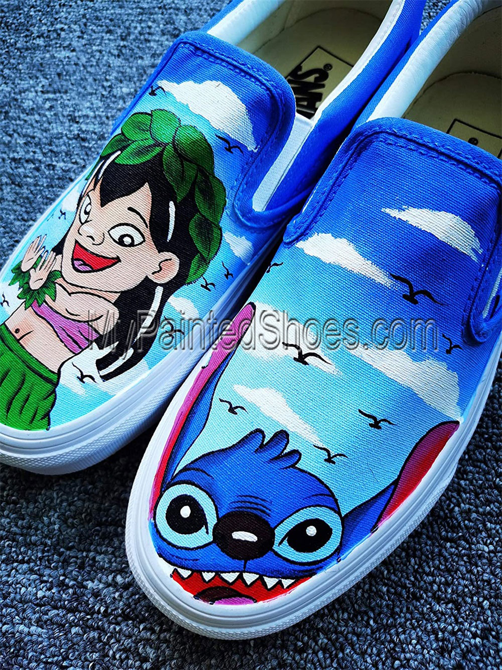 Lilo and Stitch Shoes for Women Hand Painted Shoes-1