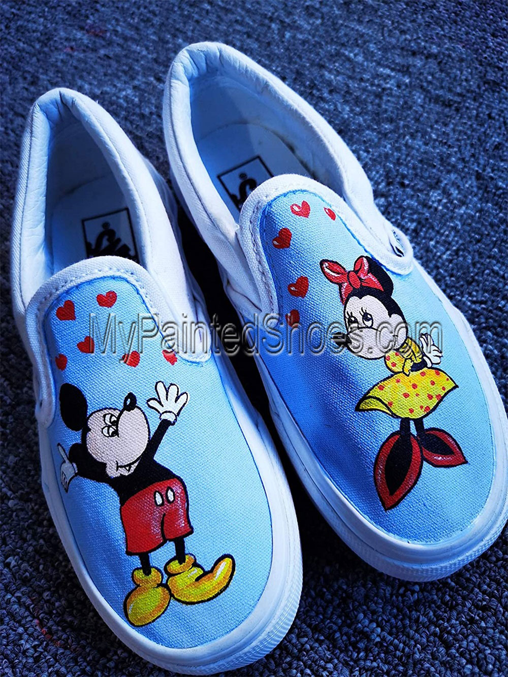 Mickey Mouse Shoes and Minnie Mouse Hand Painted Shoes-2