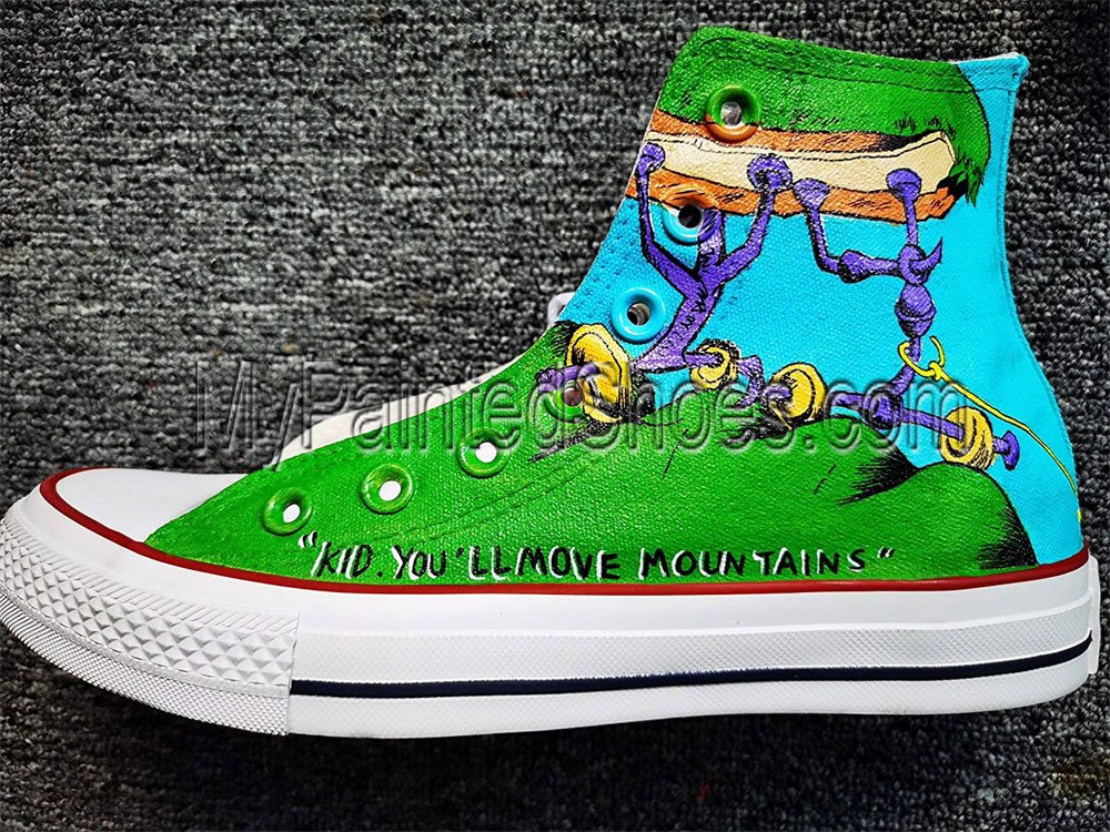 Hand Painted Shoes Design Custom Dr. Seuss High Top Men Women-2