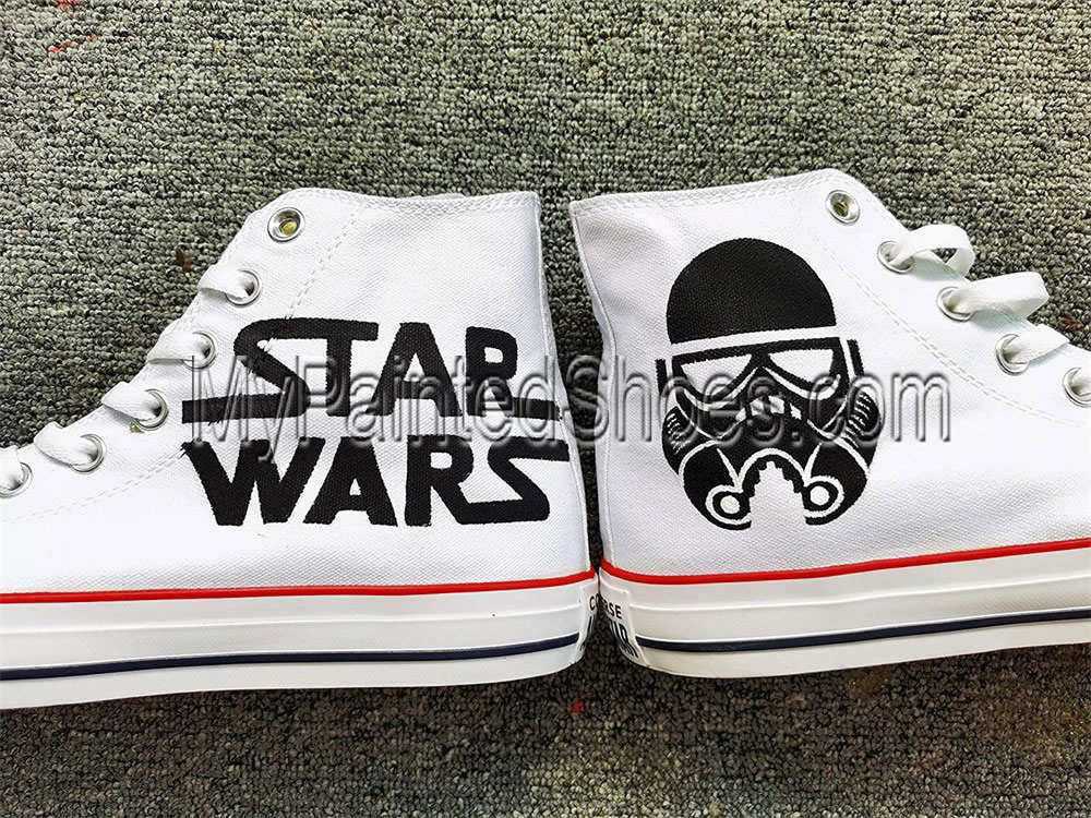 Star Wars Hand Painted Shoes Darth Vader Shoes-1