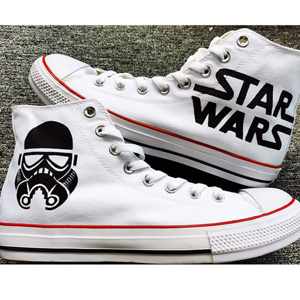 Star Wars Hand Painted Shoes Darth Vader Shoes