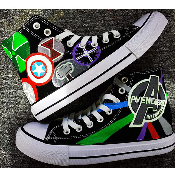 Custom Painted Shoes Marvel Comic Anime Shoes High Tops