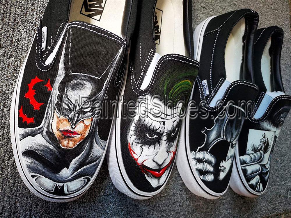 Hand Painted Shoes Batman Shoes Batman Mens Shoes Batman Shoes-1