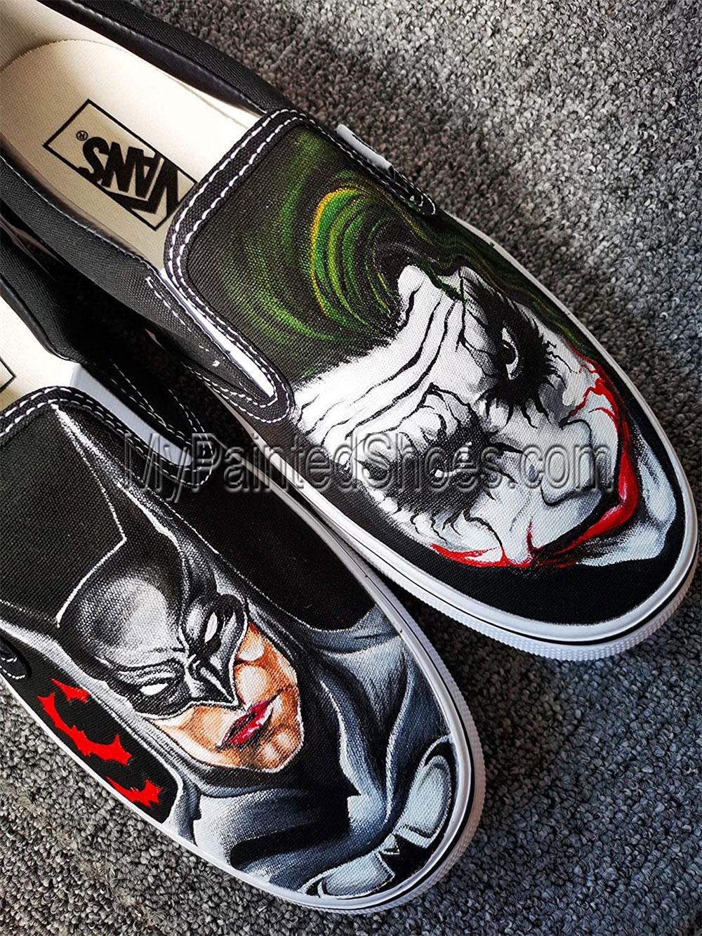 Hand Painted Shoes Batman Shoes Batman Mens Shoes Batman Shoes-4