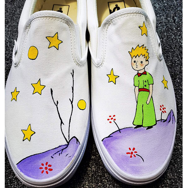 The Little Prince Hand Painted Shoes Women Men's Canvas Sneakers