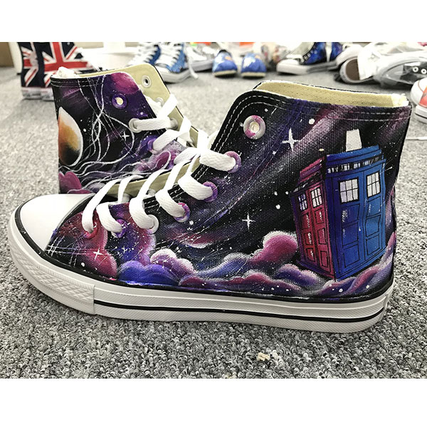 Doctor Who Hand Painted Shoes For Women Men Custom Sneakers