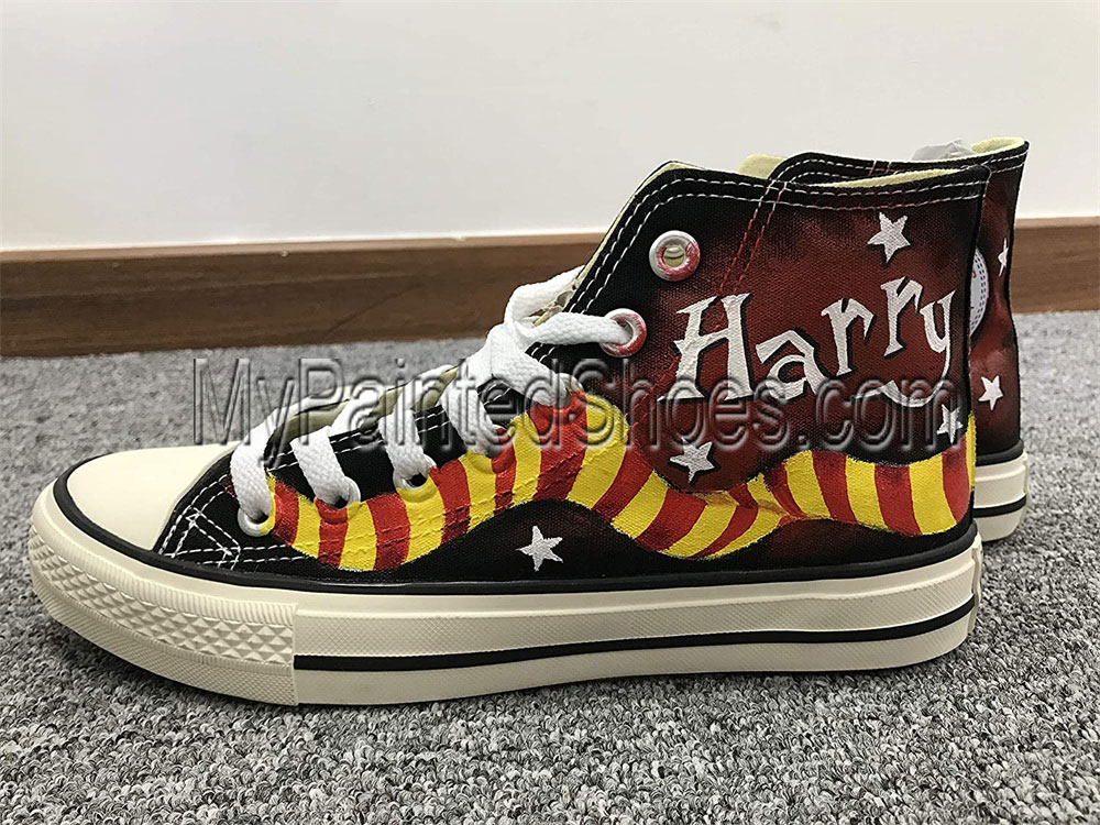 Harry Potter Anime Shoes Canvas Shoes Custom Shoes Hand Painted-1