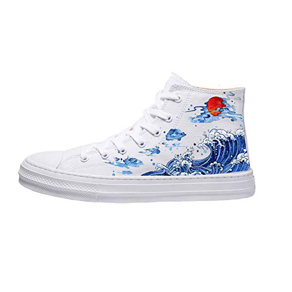 The Great Wave off Kanagawa Shoes Unisex Hand Painted Shoes