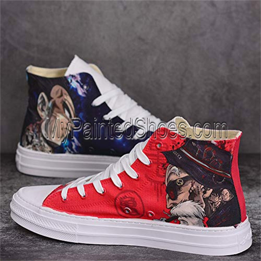 Anime Shoes Unisex Hand Painted Shoes Custom Design Dragon Ball-1