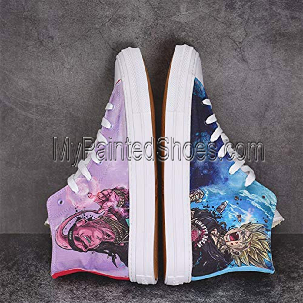 Anime Shoes Unisex Hand Painted Shoes Custom Design Dragon Ball-2