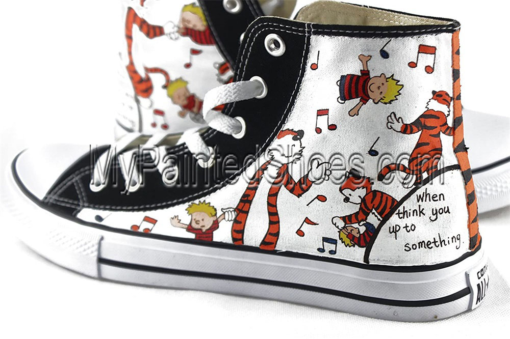 Calvin And Hobbes Hand-Painted Shoes With Calvin And Hobbes-2