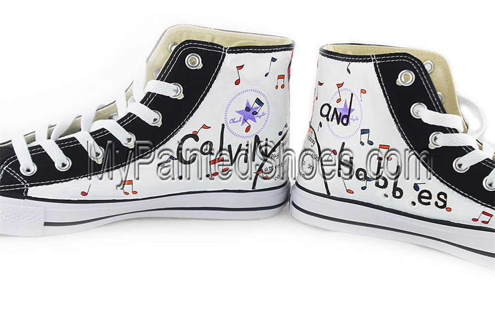 Calvin And Hobbes Hand-Painted Shoes With Calvin And Hobbes-3