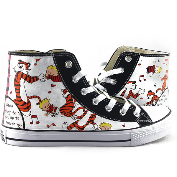 Calvin And Hobbes Hand-Painted Shoes With Calvin And Hobbes
