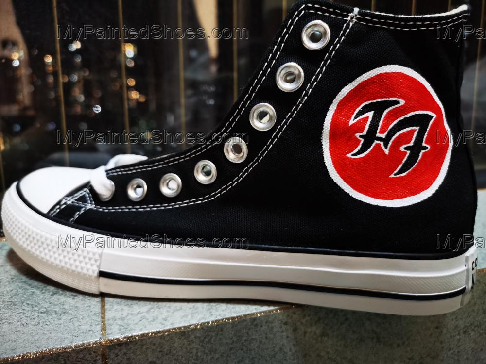 2021 Foo Fighters Canvas Shoes High Top Rock Band Custom Shoes-2