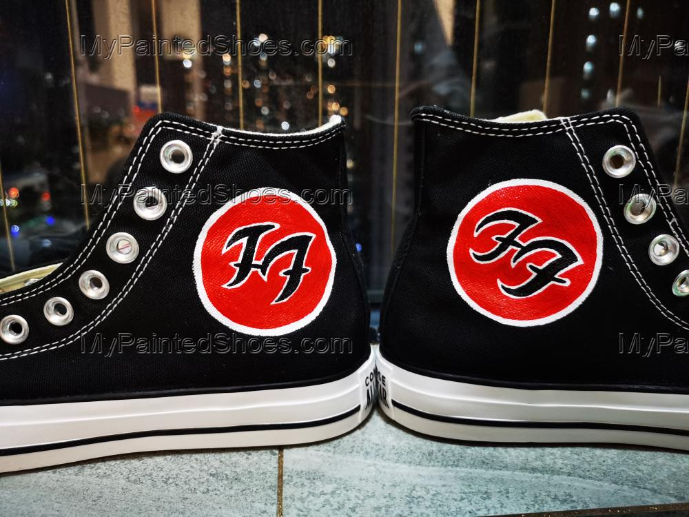 2021 Foo Fighters Canvas Shoes High Top Rock Band Custom Shoes-3