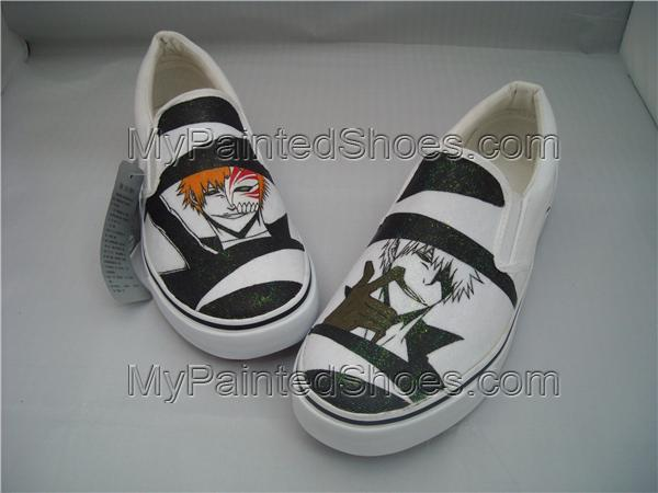 Bleach Shoes Custom Shoes Hand Painted Shoes Gift Shoes Gifts-2