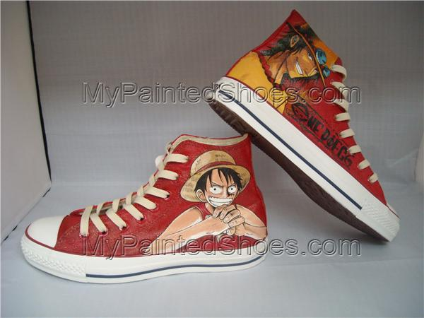 2021 One Piece Shoes Luffy/Ace Custom Shoes Sneakers for Fans-2