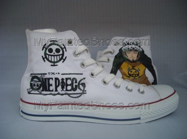 2021 One Piece Trafalgar Law Sneakers Women's Men's Canvas Shoes-1