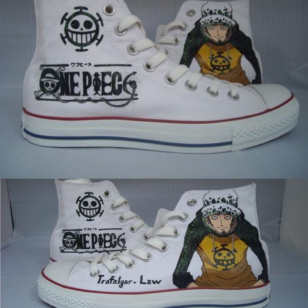 2021 One Piece Trafalgar Law Sneakers Women's Men's Canvas Shoes