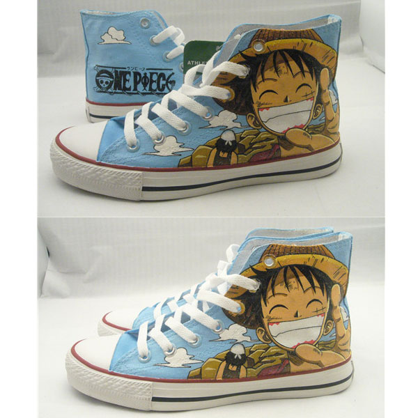 2021 One Piece Luffy Anime Shoes Canvas High Top Anime Shoes