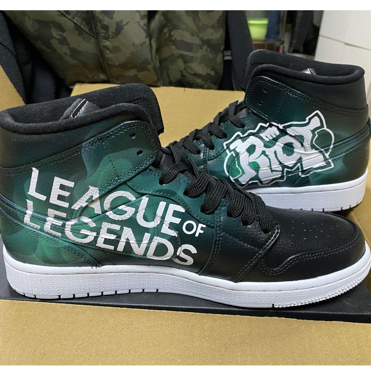 League of Legends Jordan AJ 1 Custom Air Jordan 1 Sneakers-2
