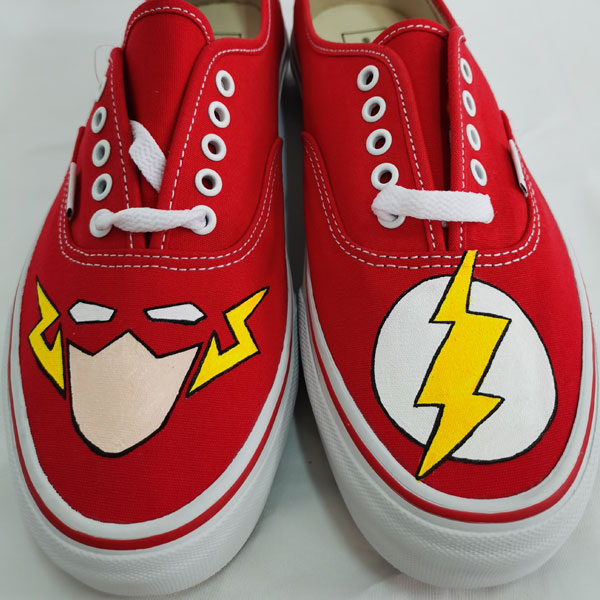 Flash DC Shoes Customized Flashy Footwear Painted Shoes