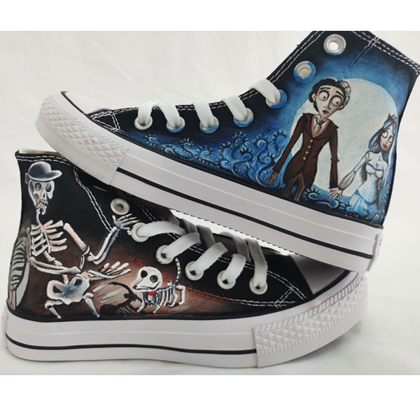 Jack and Sally Nightmare Before Christmas Painted Shoes