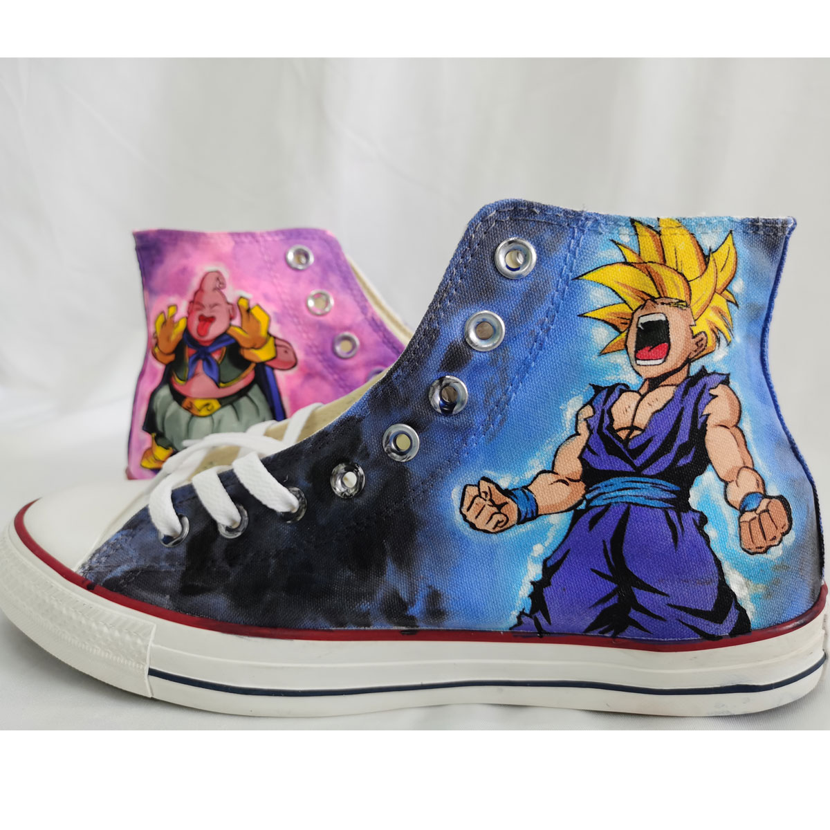 Dragon Ball Z Hand Painted Shoes Custom High Tops-4